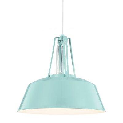 Freemont 1 Light Mini Pendant Bulb Type: A19 Medium 13W, Finish: Hi Gloss Blue