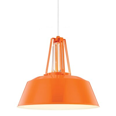 Freemont 1 Light Mini Pendant Bulb Type: A19 Medium 13W, Finish: Hi Gloss Orange