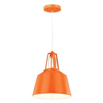 Freemont 1 Light Mini Pendant Finish: Hi Gloss Orange, Bulb Type: A19 Medium 13W