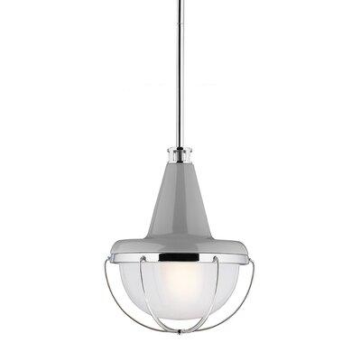 Livingston 1 Light Mini Pendant Finish: High Gloss Gray / Polished Nickel, Bulb Type: A19 Medium 13W
