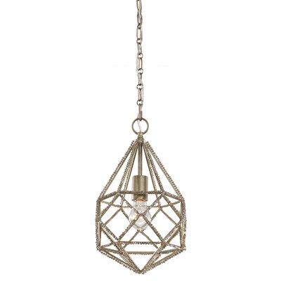 Marquise 1 Light Mini Pendant Finish: Burnished Silver, Bulb Type: A19 Medium 13W