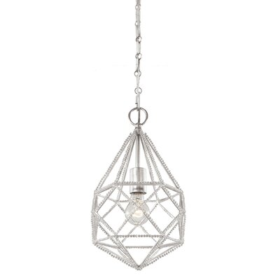 Marquise 1 Light Mini Pendant Bulb Type: A19 Medium 13W, Finish: Silver