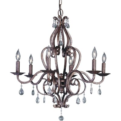 Mademoiselle 6-Light Candle-Style Chandelier