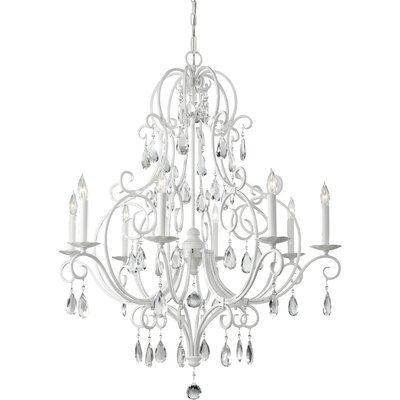 Chateau Blanc 8-Light Crystal Chandelier