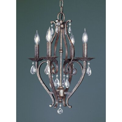Mademoiselle 4-Light Candle-Style Chandelier