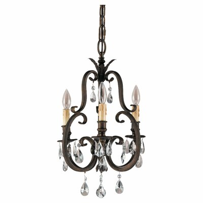 Salon Ma Maison 3-Light Candle-Style Chandelier