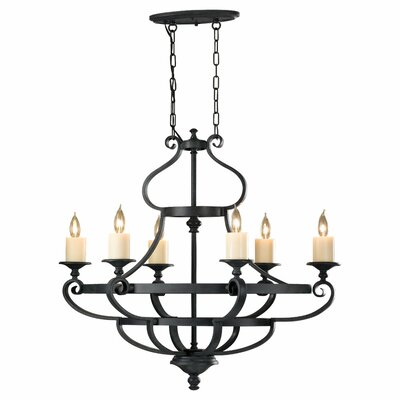 Kings Table 6-Light Candle-Style Chandelier