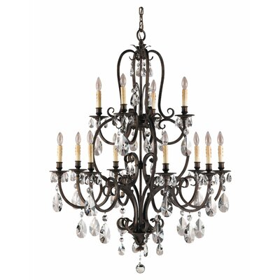 Salon Ma Maison 12-Light Crystal Chandelier
