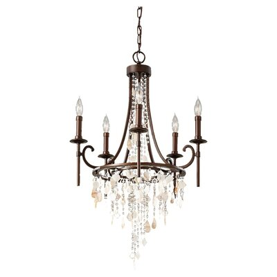 Cascade 5-Light Candle-Style Chandelier