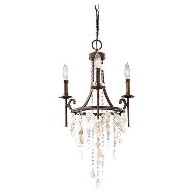 Cascade 3-Light Crystal Chandelier