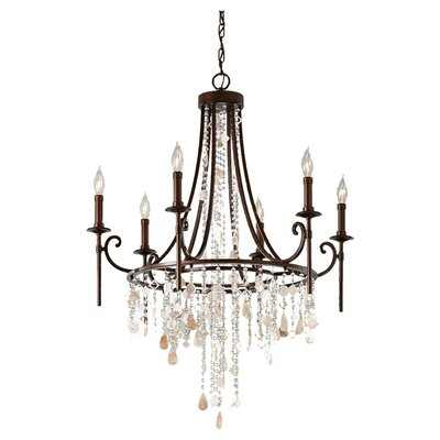 Cascade Sia Tier 6-Light Crystal Chandelier