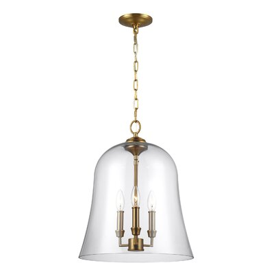 Chilcott 3-Light Mini Pendant Finish: Burnished Brass
