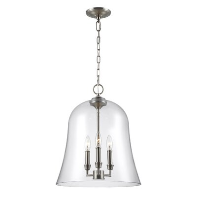 Chilcott 3-Light Mini Pendant Finish: Satin Nickel