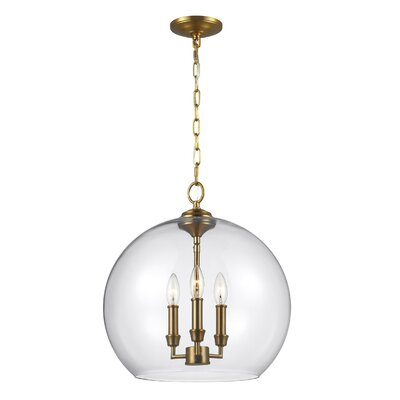 Chilcott 3-Light Globe Pendant Finish: Burnished Brass