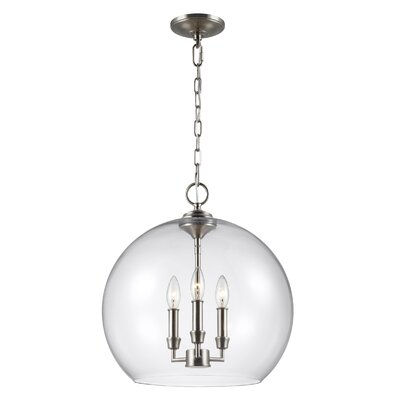 Chilcott 3-Light Globe Pendant Finish: Satin Nickel