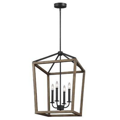 Natarsha 4-Light Mini Chandelier Size: 84.5 H x 18 W x 18 D