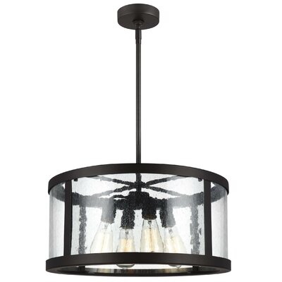 Quebisha 4-Light Drum Pendant Finish: Oil Rubbed Bronze