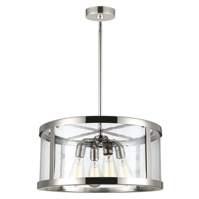 Quebisha 4-Light Drum Pendant Finish: Polished Nickel