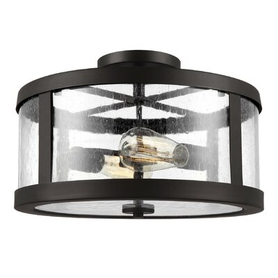 Quebisha 2-Light Semi Flush Mount Finish: Oil Rubbed Bronze