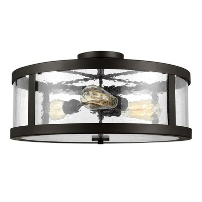 Quebisha 3-Light Semi Flush Mount Finish: Oil Rubbed Bronze