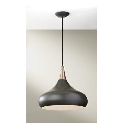 Beso 1 Light Mini Pendant Bulb Type: A19 Medium 13W, Finish: Dark Bronze