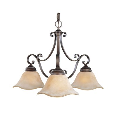 Tuscan Villa 3-Light Candle-Style Chandelier