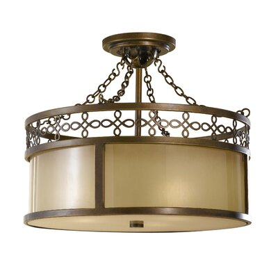 Justine 3-Light Semi Flush Mount