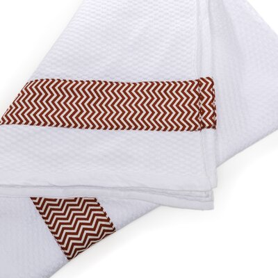 Chevron Print Border Cotton Beach Towel