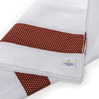 Polka Dot Print Border Cotton Beach Towel