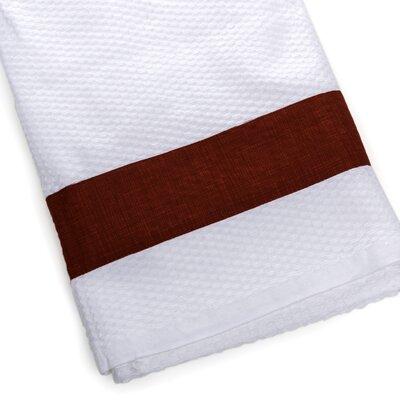 Linen Print Border Beach Towel