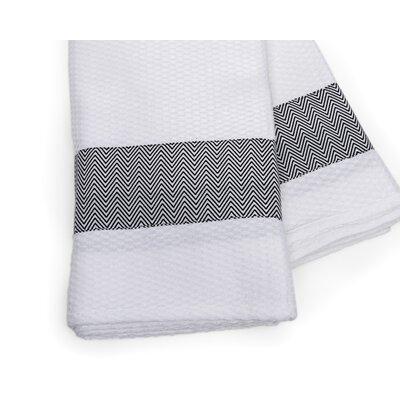 Zig Zag Print Border Beach Towel