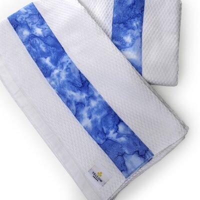 Waffle Beach Towel Color: Blue