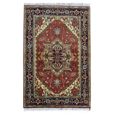One-of-a-Kind Shelby Hand-Woven Wool Red Area Rug