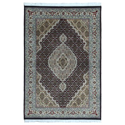 One-of-a-Kind Seaway Hand-Woven Wool/Silk Olive Area Rug