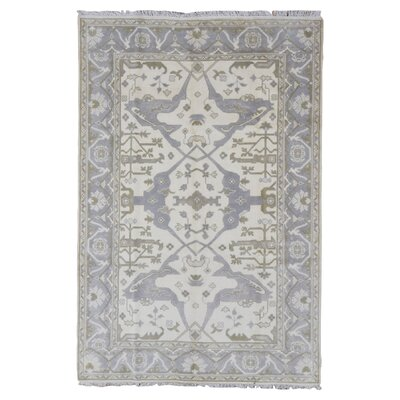 One-of-a-Kind Barnabe Oriental Hand-Woven Wool Beige Area Rug