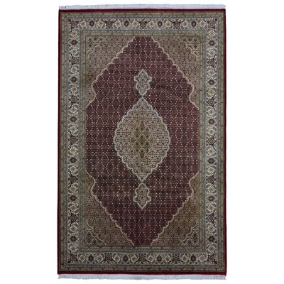 One-of-a-Kind Seaway Hand-Woven Wool/Silk Red Area Rug