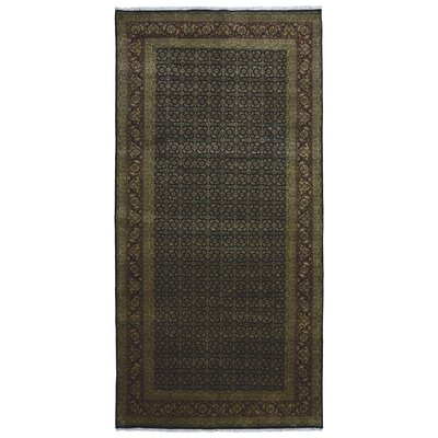 One-of-a-Kind Vauxhall Hand-Woven Wool Olive Area Rug