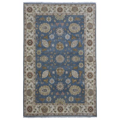 One-of-a-Kind Baron Oriental Hand-Woven Wool Blue Area Rug