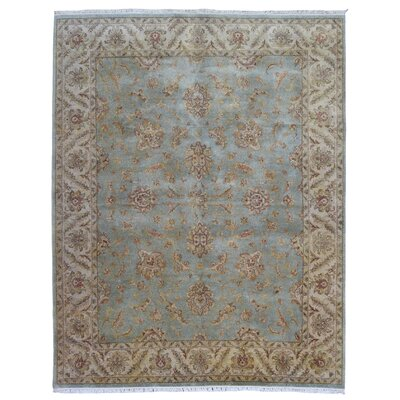 One-of-a-Kind Bel Peshawar Hand-Woven Wool Blue Area Rug
