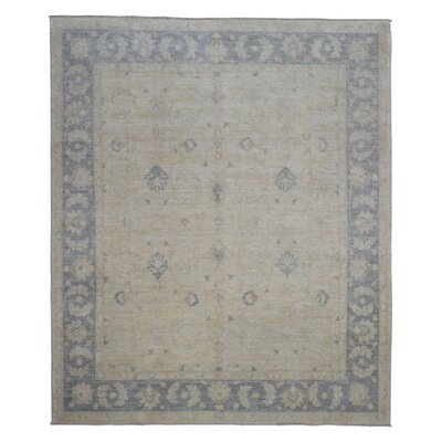 One-of-a-Kind Beall Hand-Woven Wool Beige Area Rug