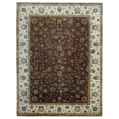 One-of-a-Kind Baron Oriental Hand-Woven Wool Brown Area Rug