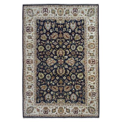 One-of-a-Kind Belda Oriental Hand-Woven Wool Navy Area Rug