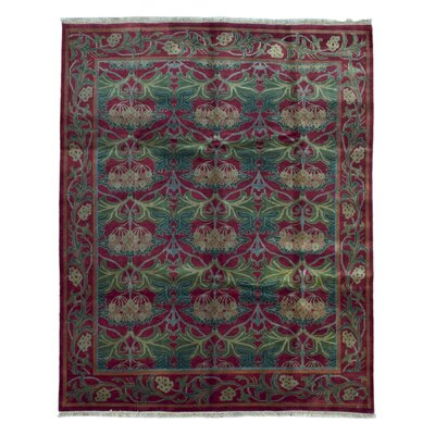 One-of-a-Kind Wallace Way Hand-Woven Wool Burgundy Area Rug