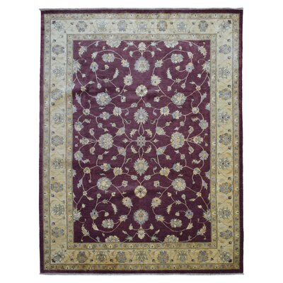 One-of-a-Kind Beall Hand-Woven Wool Burgundy Area Rug