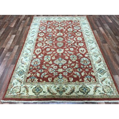 One-of-a-Kind Anjo Hand-Woven Wool Red/Beige Area Rug
