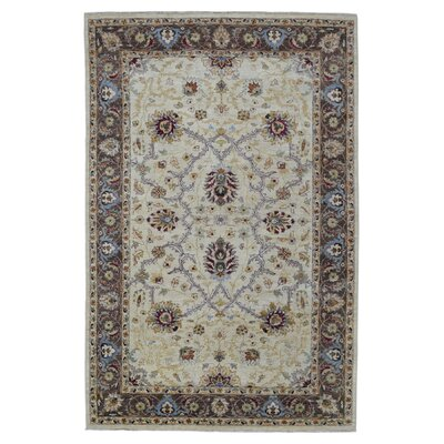 One-of-a-Kind Anjo Hand-Woven Wool Beige/Brown Area Rug