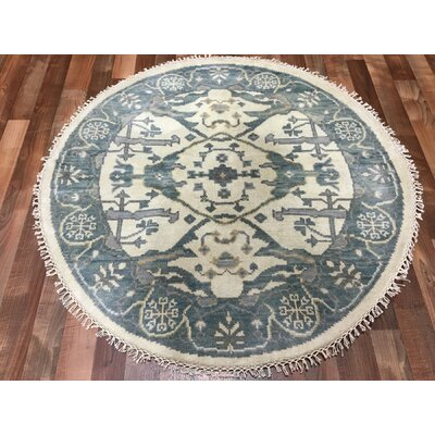 One-of-a-Kind Fairfield Oushak Hand-Woven Wool Blue Area Rug