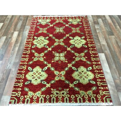 One-of-a-Kind Fawke Oushak Hand-Woven Wool Red Area Rug
