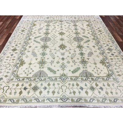 One-of-a-Kind Phina Oushak Hand-Woven Wool Beige/Green/Blue Area Rug