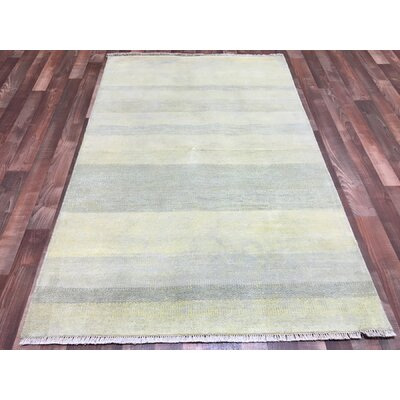 One-of-a-Kind Fawnridge Hand-Woven Wool Beige Area Rug